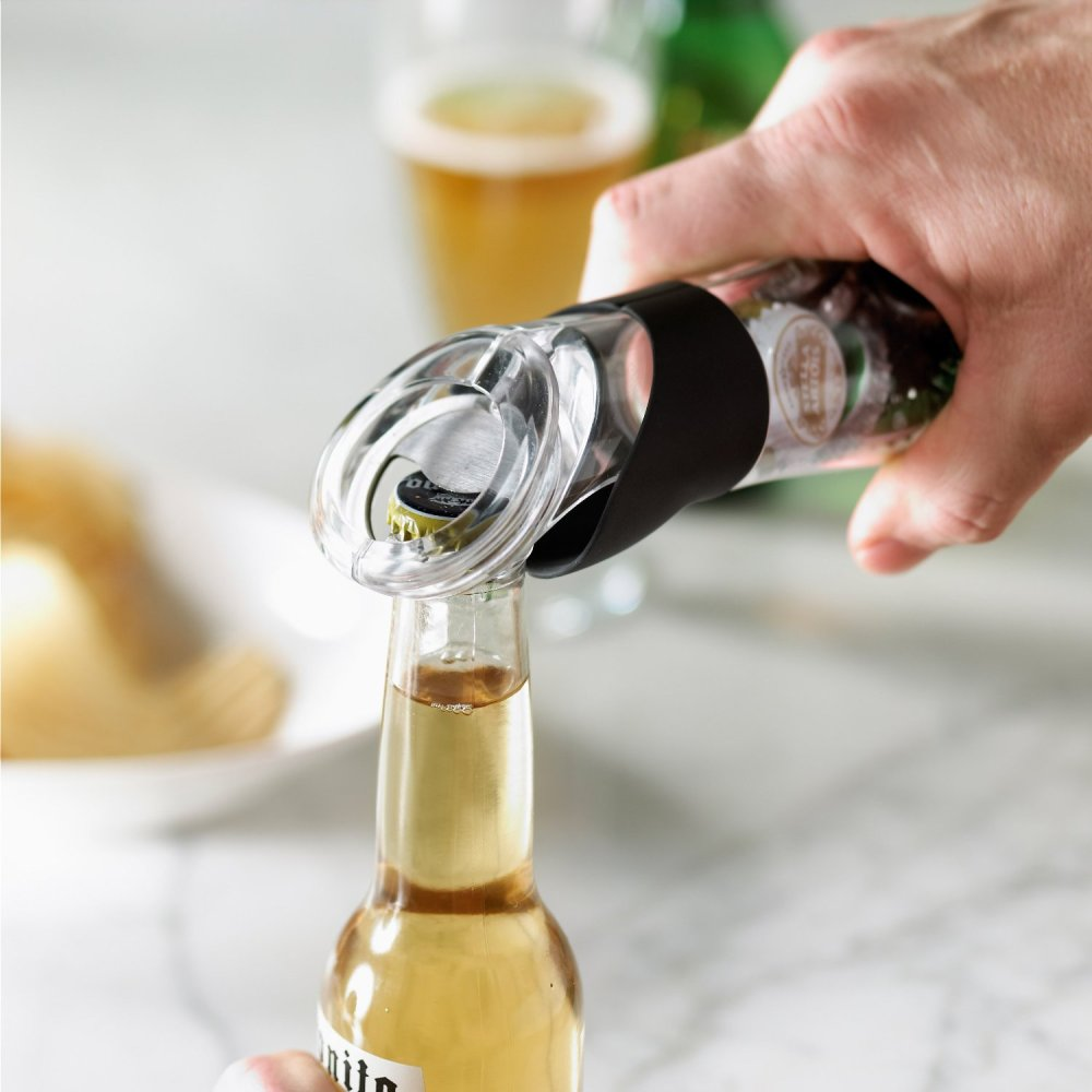 A bottle opener that stores the caps.