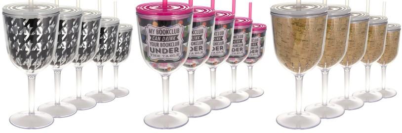 Slant Collections wine glasses acrylic