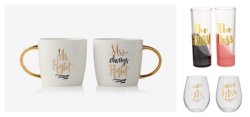 Slant Collections wedding glasses mugs shot